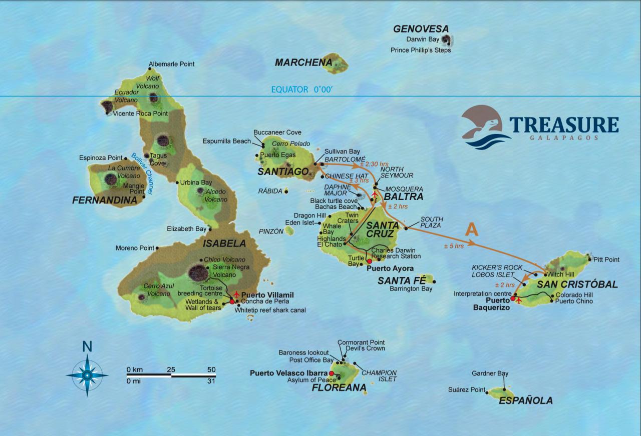 Treasure of Galapagos Itinerary 5A