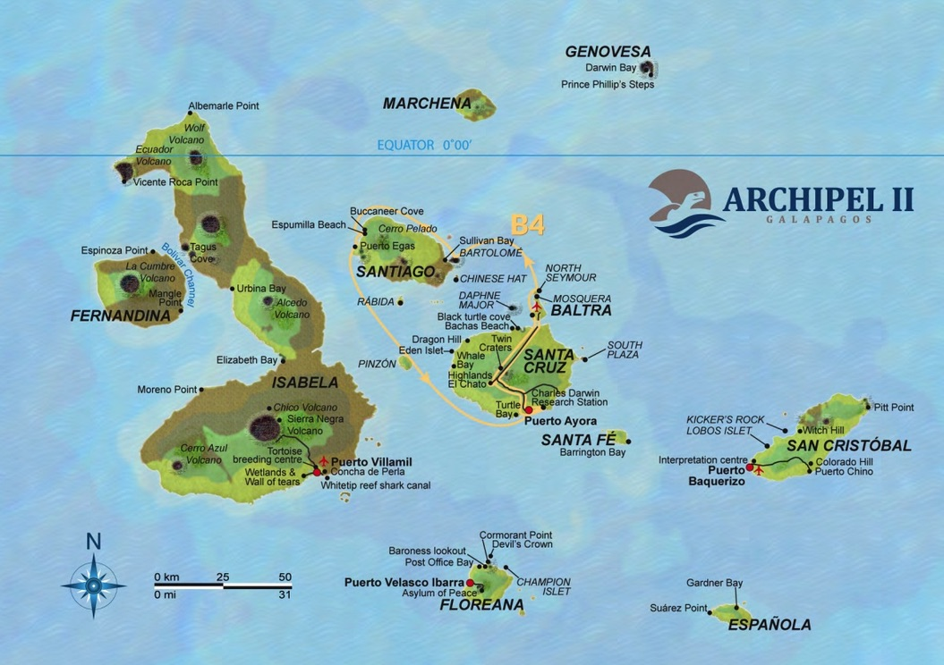 Map Galapagos Archipell B4