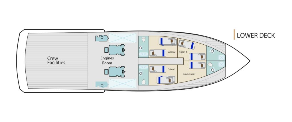 Lower Deck Bonita Yacht