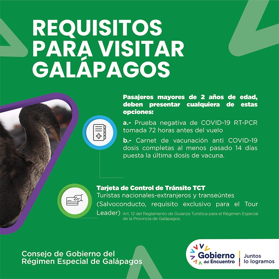 requirements for visiting galapagos