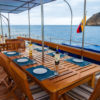 Archipel I Shaded deck al fresco dining area
