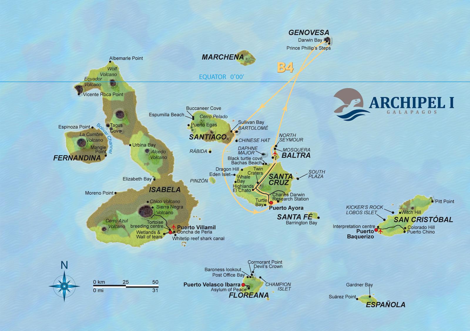 Route B4 Archipel 1