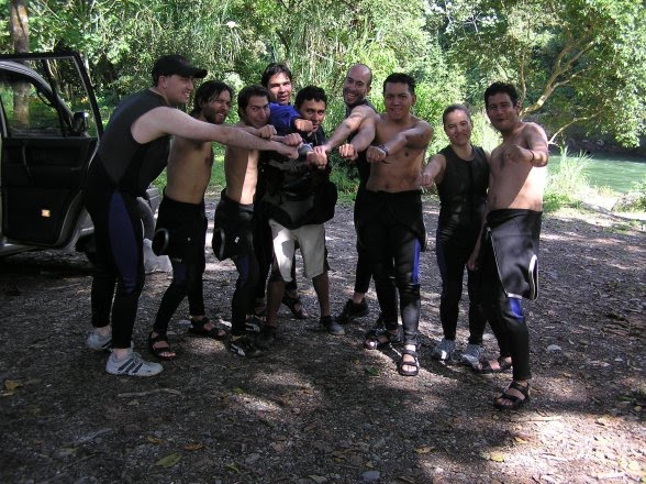 Happy after rafting the Quijos Class IV