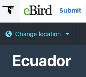 Ecuador List of Birds