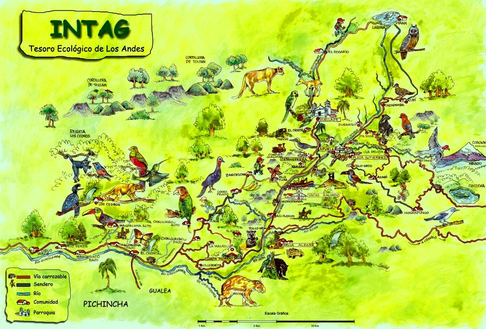 mapa Intag